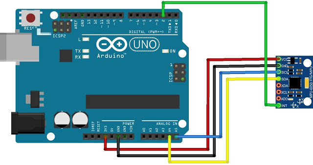 Connections to GY-521 from Arduino UNO